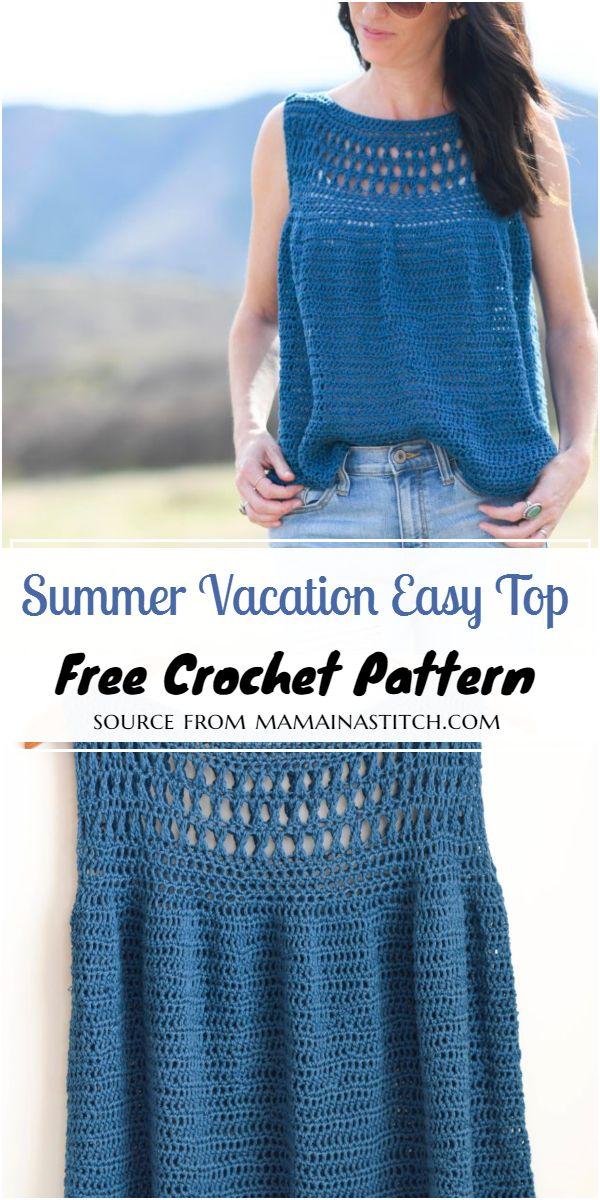 Summer Vacation Easy Top Crochet Pattern