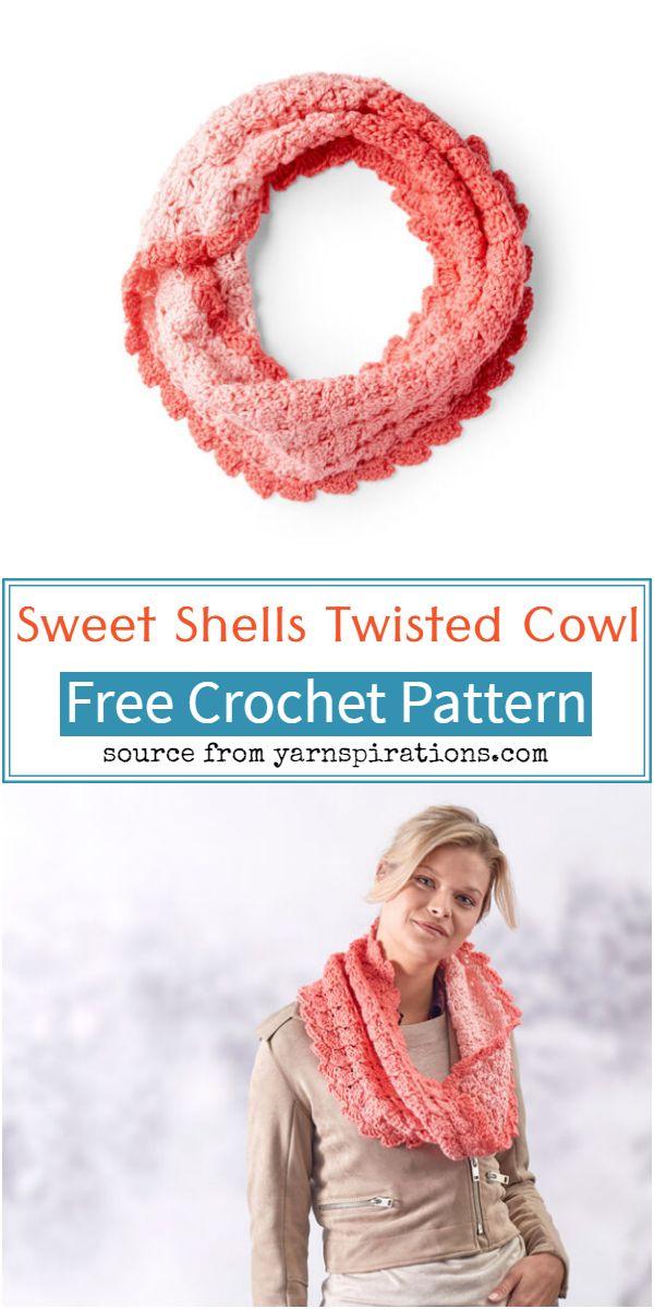 Sweet Shells Crochet Twisted Cowl Pattern
