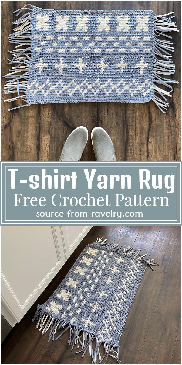 T-shirt Yarn Rug Crochet Pattern