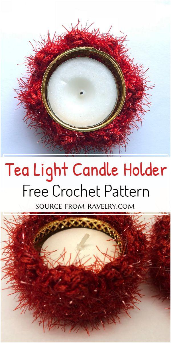 Tea Light Crochet Candle Holder Pattern