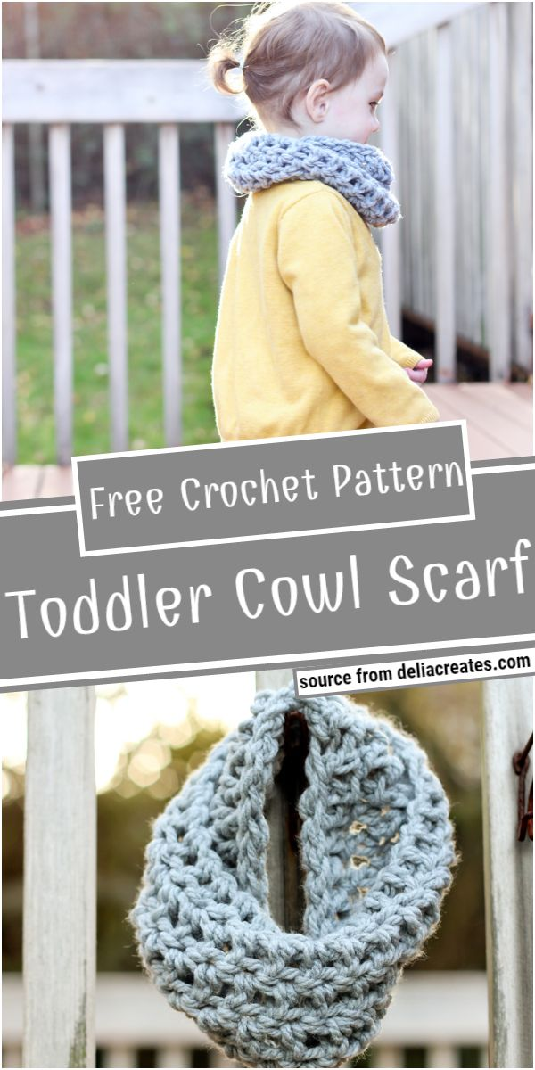The Crocheted Toddler Cowl Scarf Free Pattern