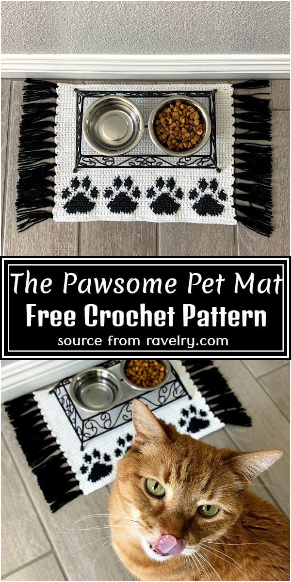 The Pawsome Pet Mat Crochet Pattern