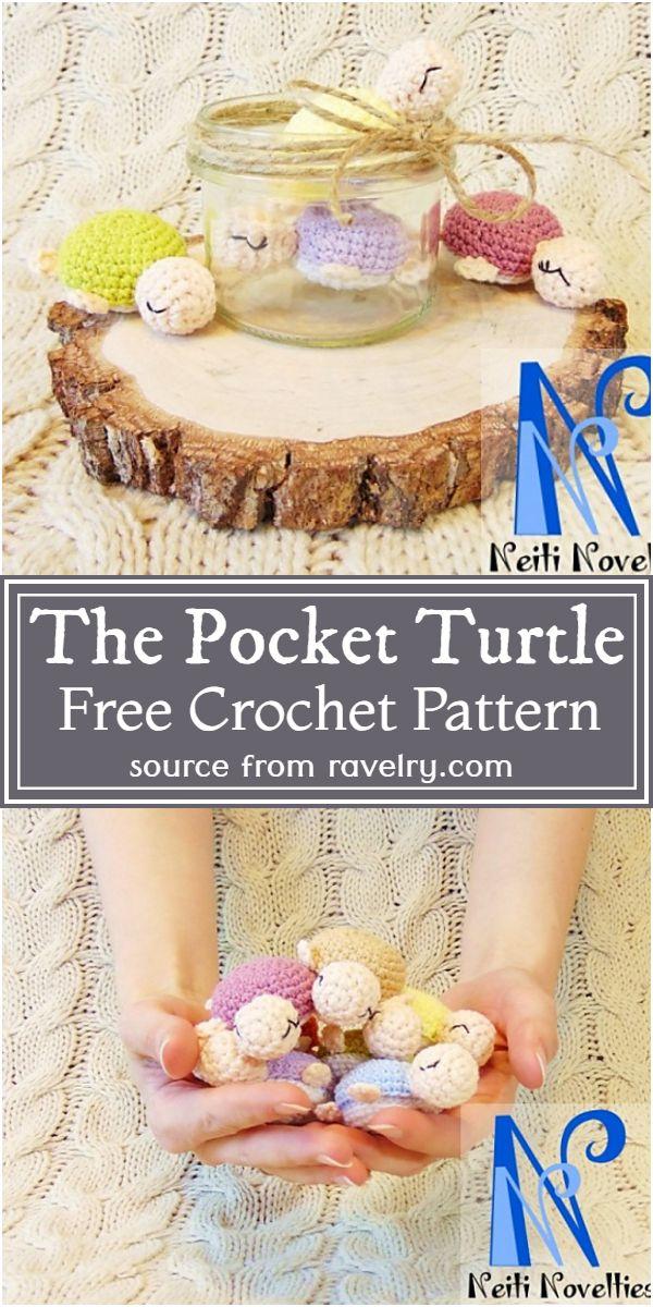 The Pocket Crochet Turtle Pattern