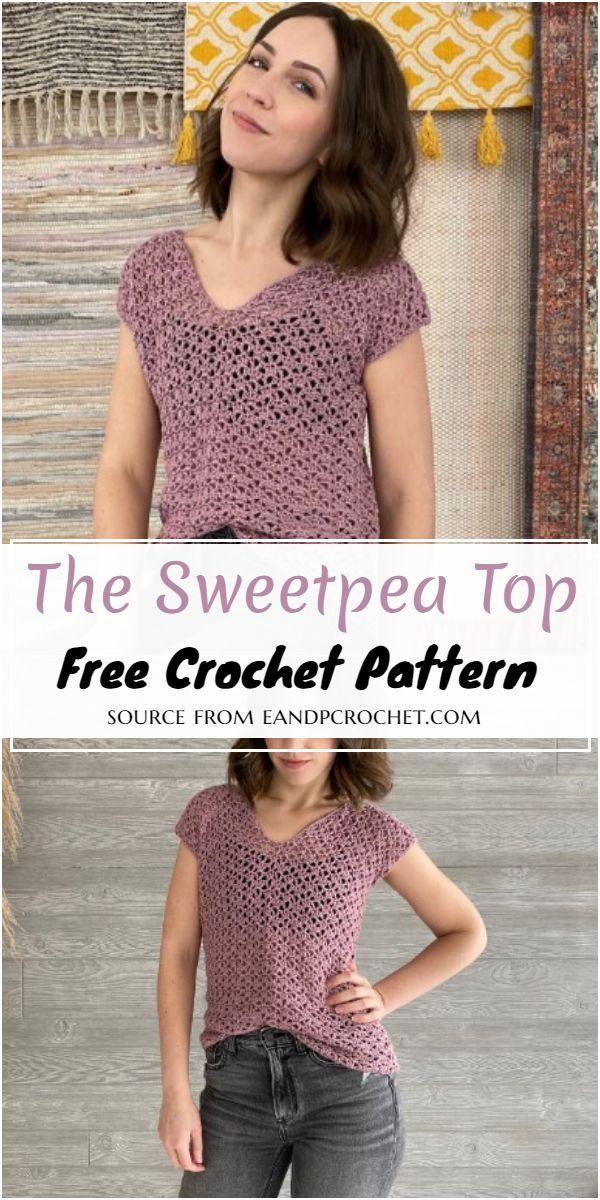 The Sweetpea Crochet Top Free Pattern