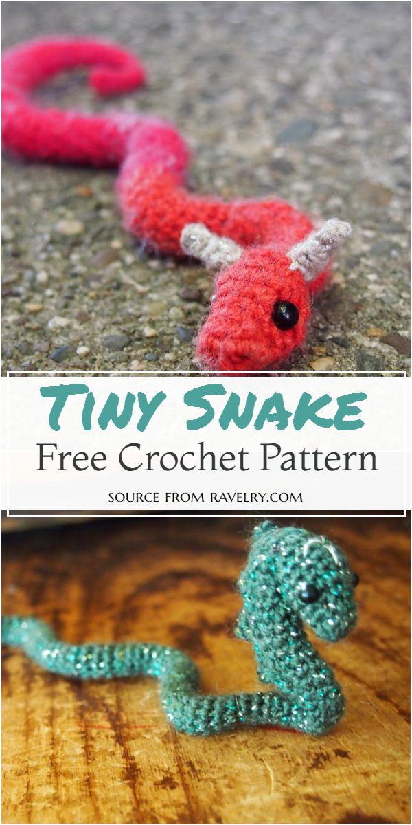 Tiny Crochet Snake Free Pattern