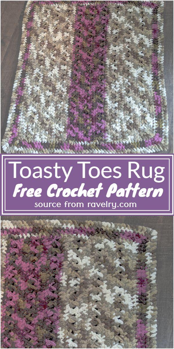 Toasty Toes Rug Crochet PatternToasty Toes Rug Crochet Pattern