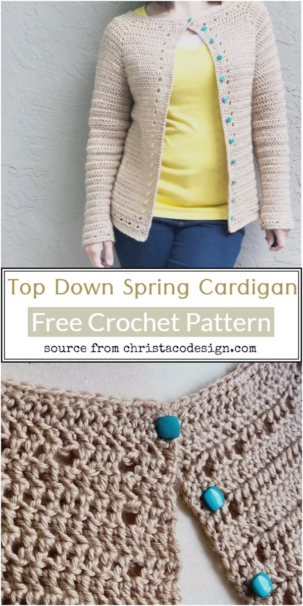 Top Down Spring Crochet Cardigan Pattern