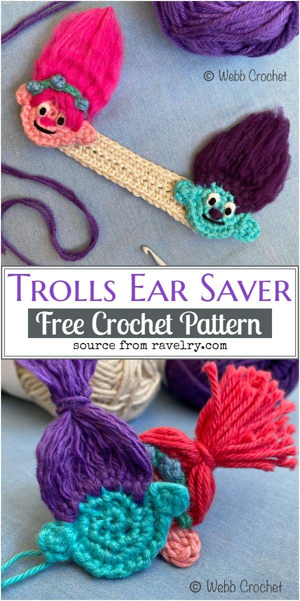Trolls Crochet Ear Saver Pattern