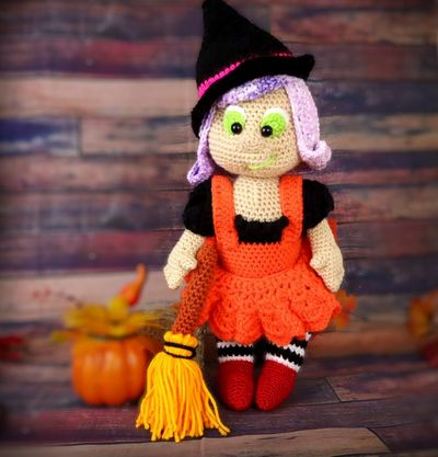 Witch Amigurumi Doll Free Pattern