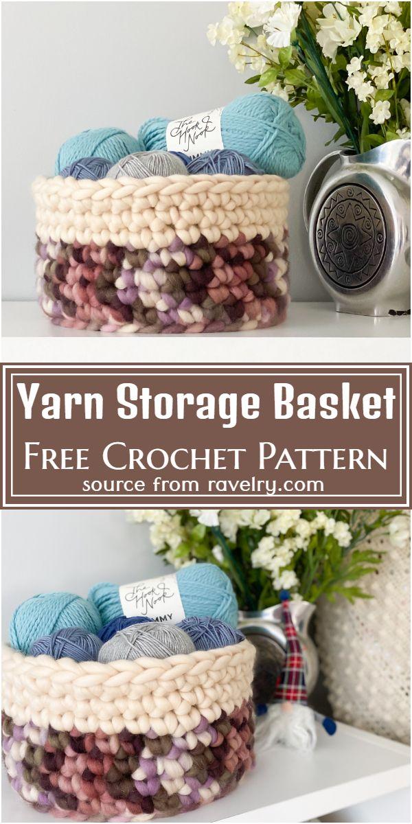 Yarn Storage Crochet Basket Pattern