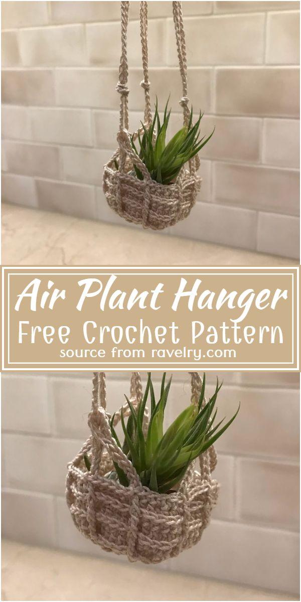 Air Plant Hanger Crochet Pattern