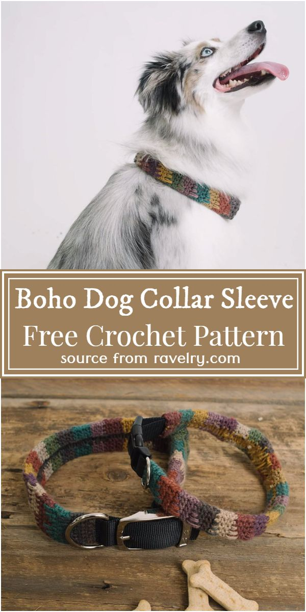 Boho Dog Collar Sleeve Crochet Pattern
