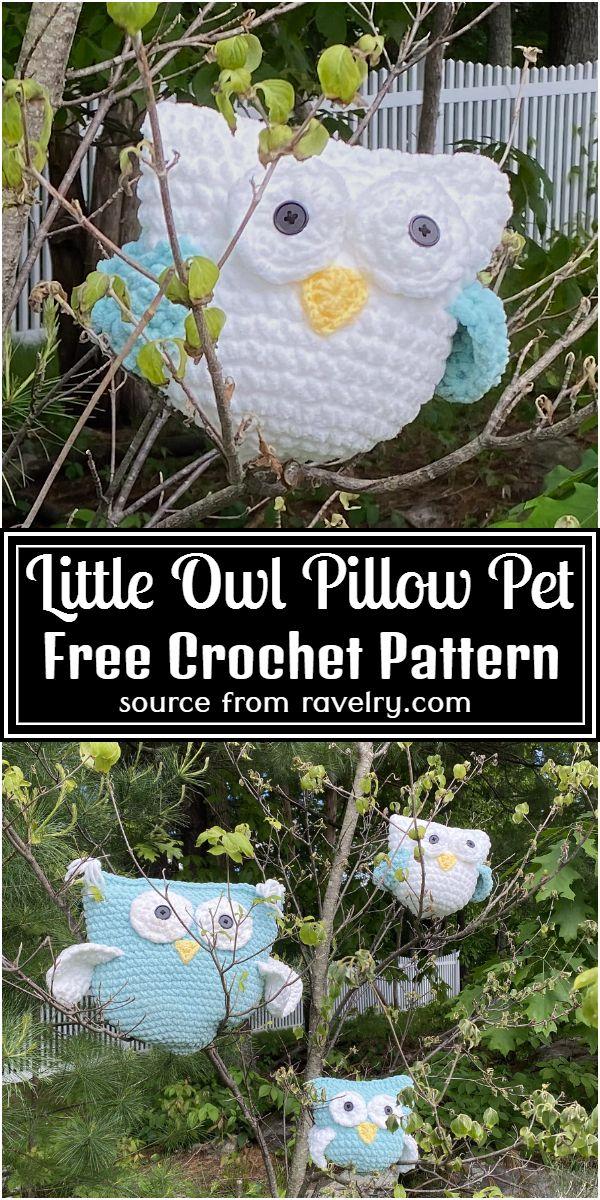 Crochet Little Owl Pillow Pet Pattern