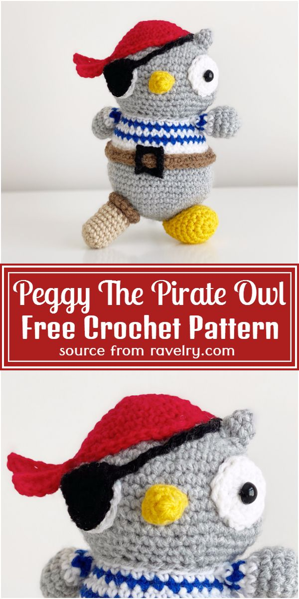 Crochet Peggy The Pirate Owl Pattern