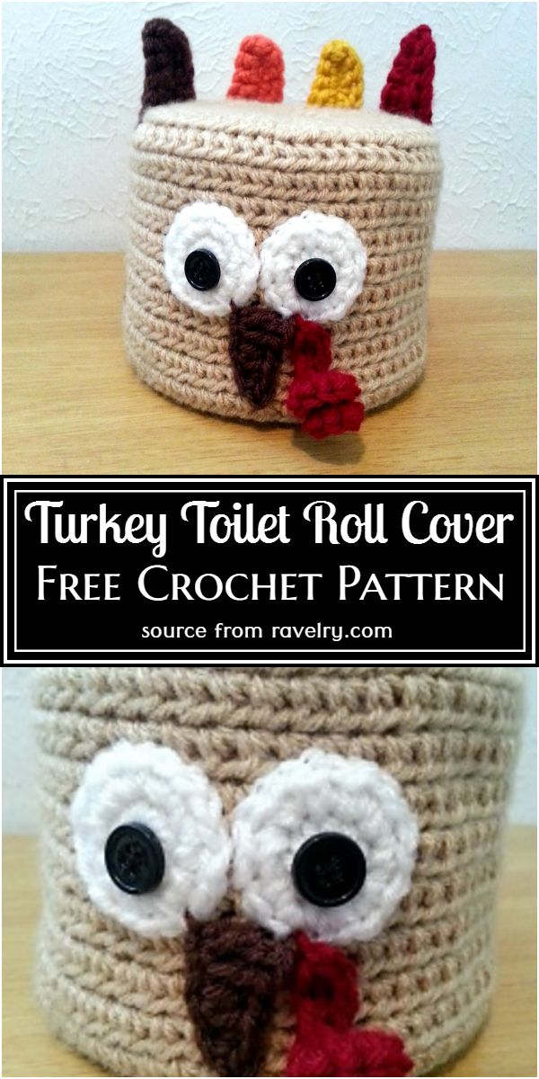 Turkey Toilet Roll Cover Free Pattern