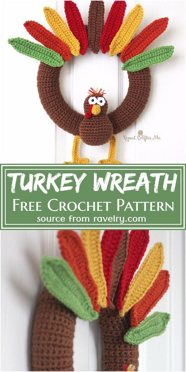 Crochet Turkey Wreath Free Pattern