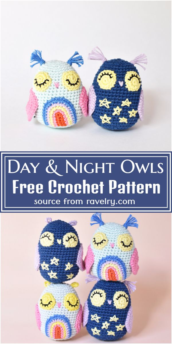 Day & Night Crochet Owls Pattern