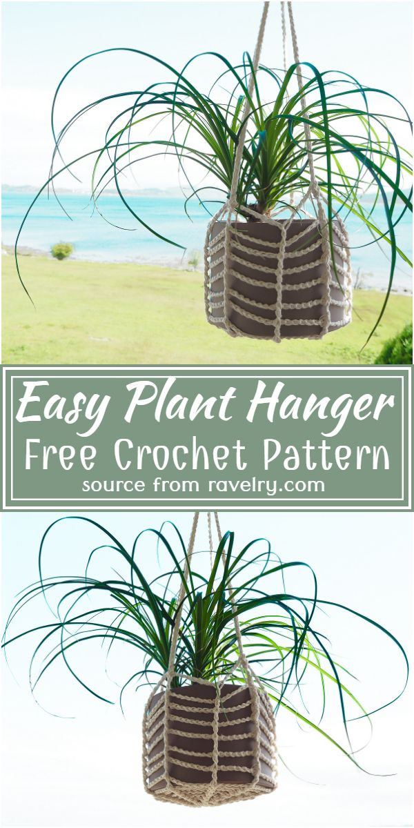 Easy Crochet Plant Hanger Free Pattern