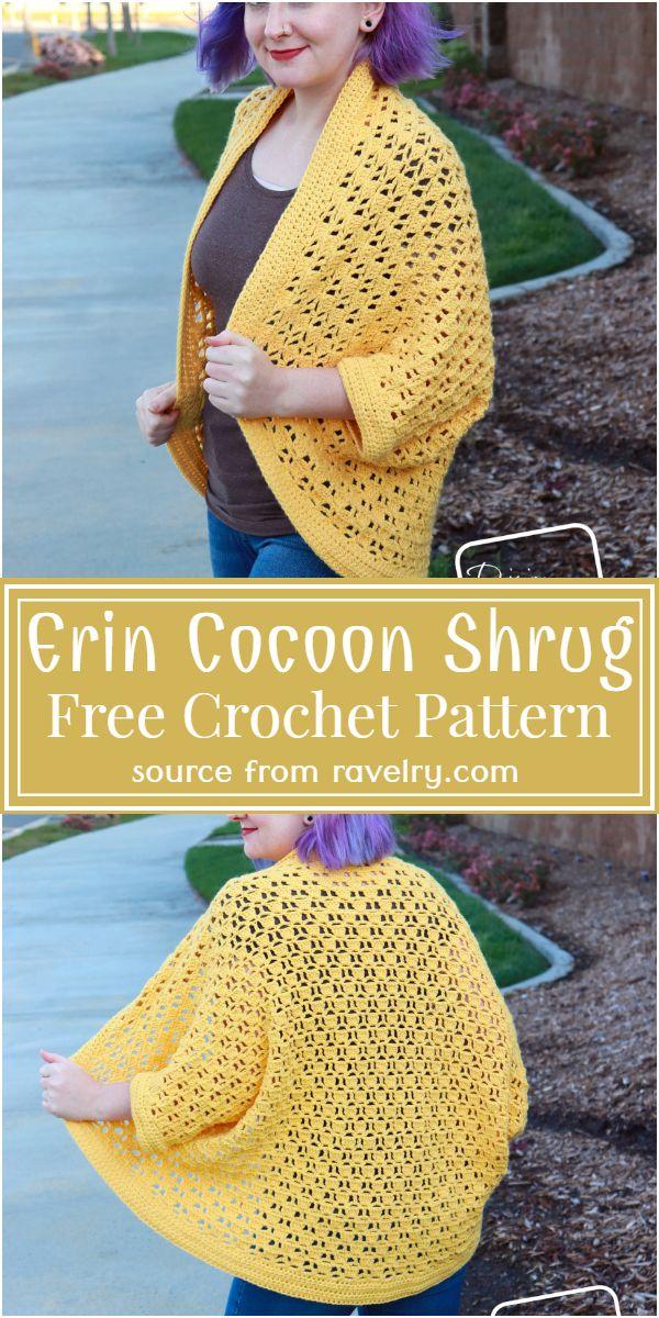 Erin Cocoon Crochet Shrug Pattern