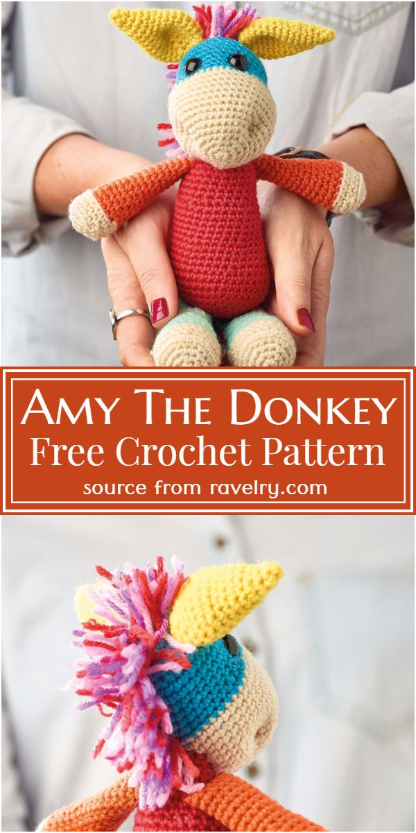Free Crochet Amy The Donkey Pattern