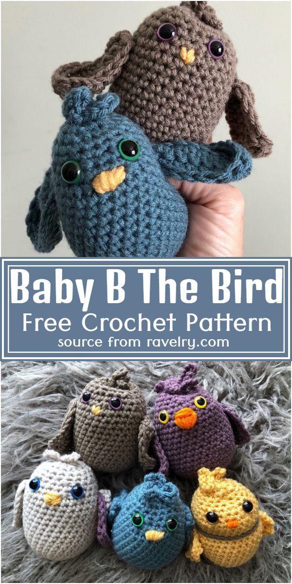 Free Crochet Baby B The Bird Pattern