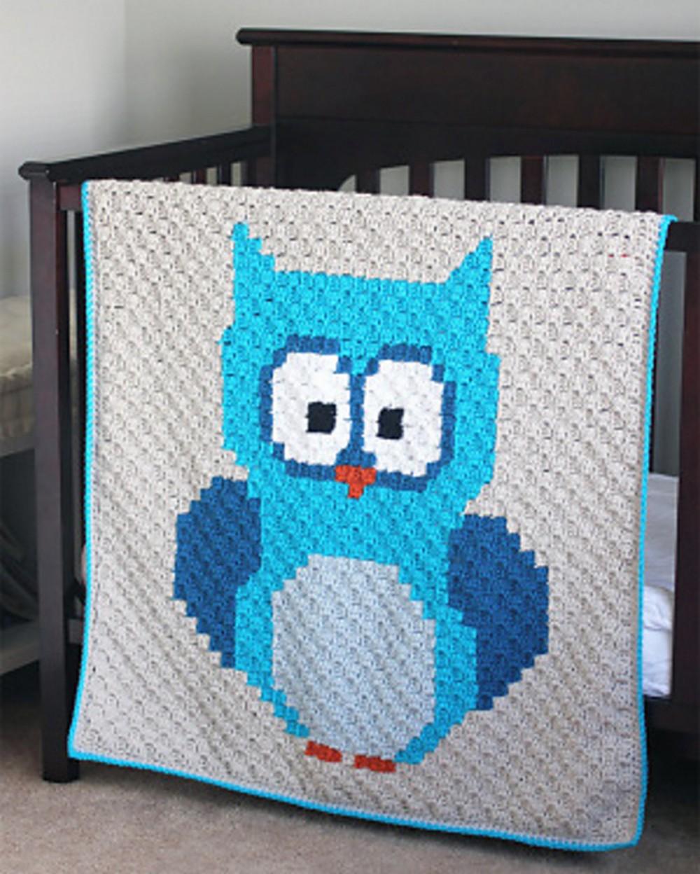 Free Crochet Baby Owl Corner-to-corner Pattern