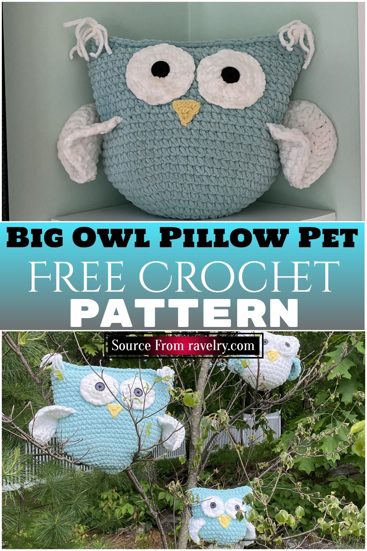 Free Crochet Big Owl Pillow Pet pattern