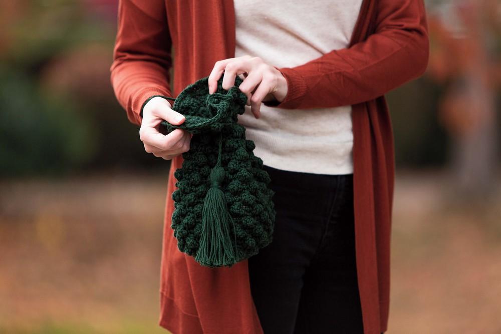 Free Crochet Bobble Clutch Bag Pattern