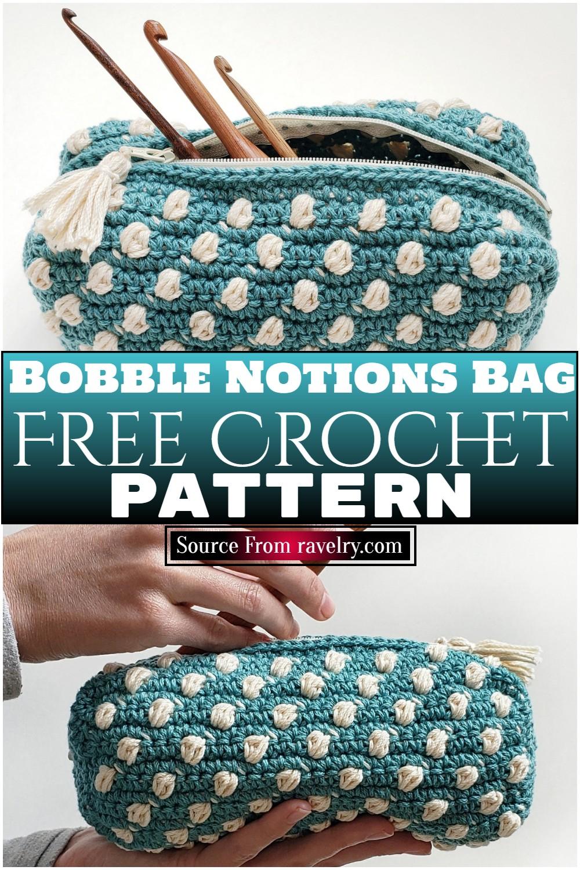 Free Crochet Bobble Notions Bag Pattern