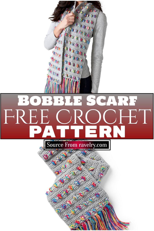 Free Crochet Bobble Scarf Pattern