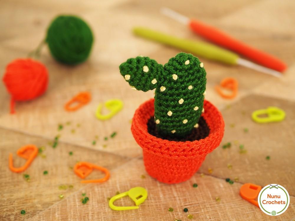 Free Crochet Bunny Ear Cactus Pattern