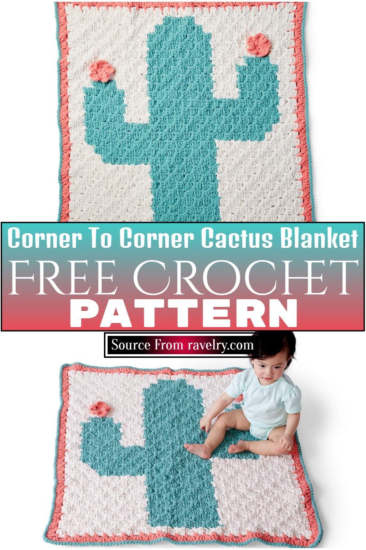 Free Crochet Corner To Corner Cactus Blanket Pattern