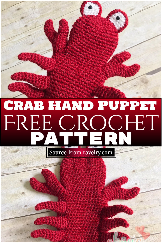 Free Crochet Crab Hand Puppet Pattern