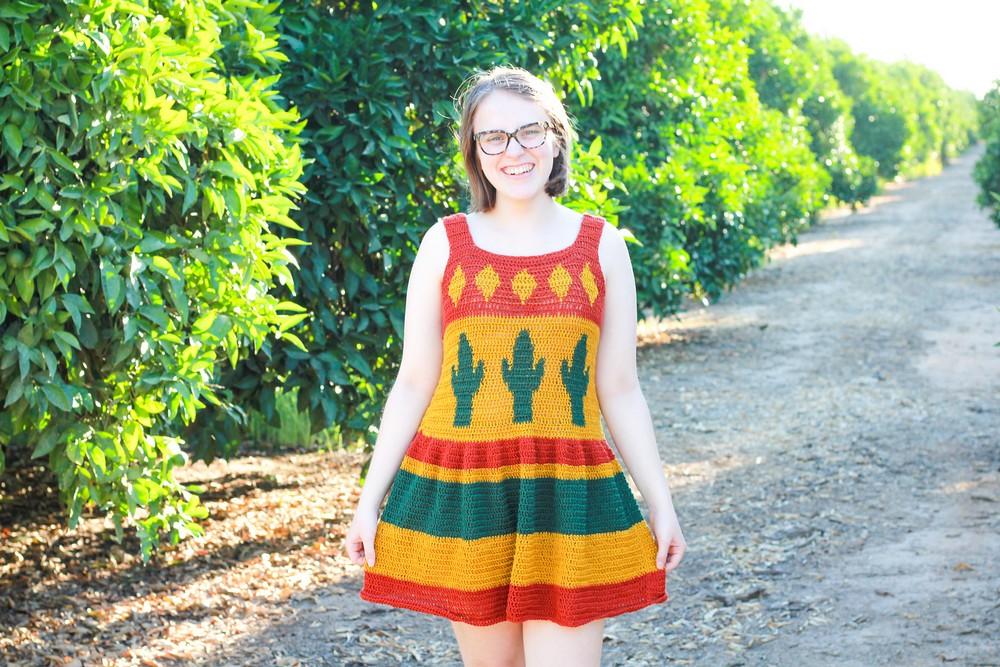 Free Crochet Desert Cactus Top & Dress Pattern
