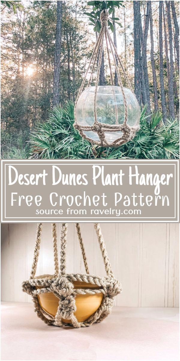Free Crochet Desert Dunes Plant Hanger Pattern