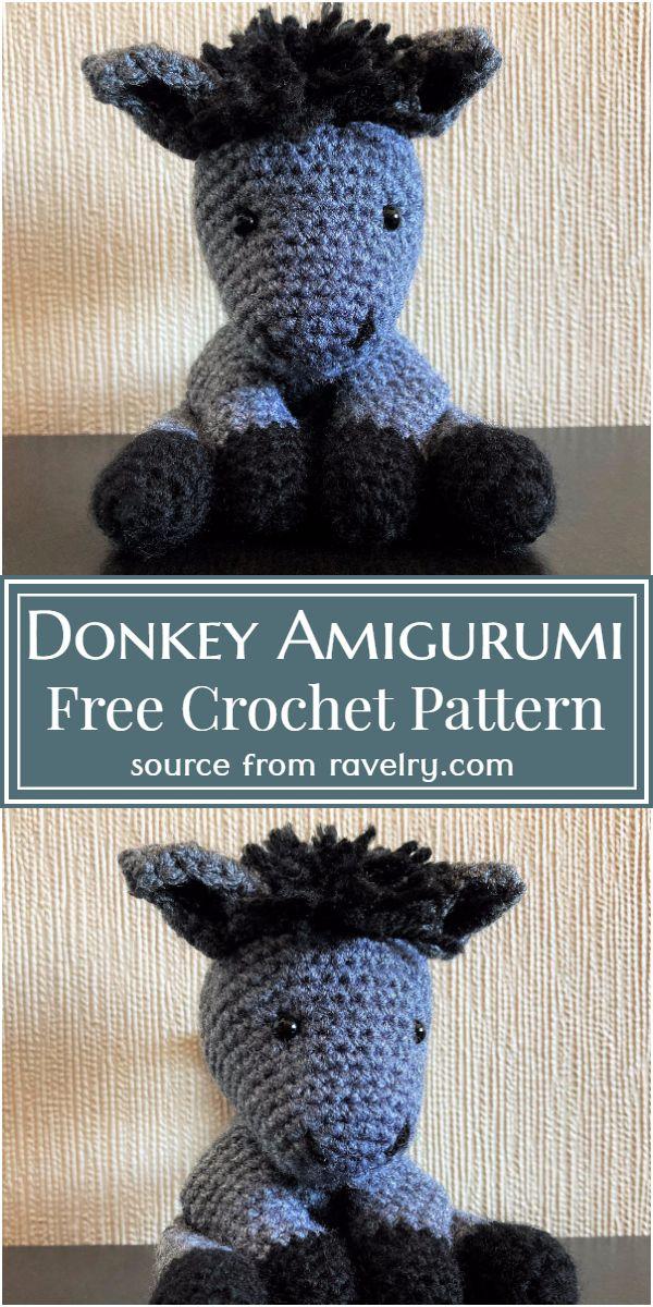 Free Crochet Donkey Amigurumi Pattern