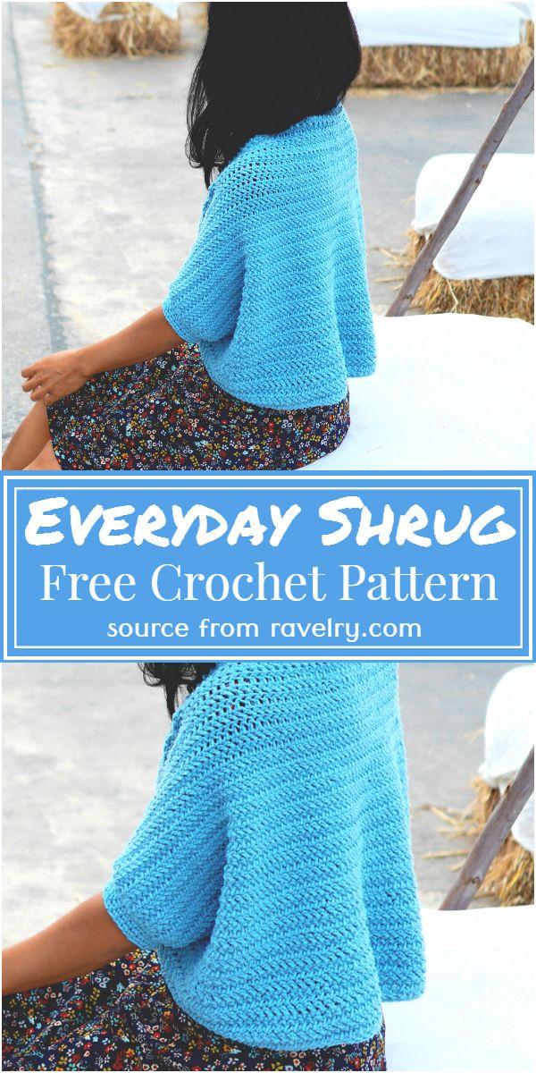 Free Crochet Everyday Shrug Pattern