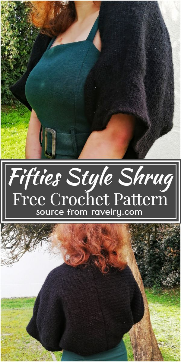 Free Crochet Fifties Style Shrug Pattern