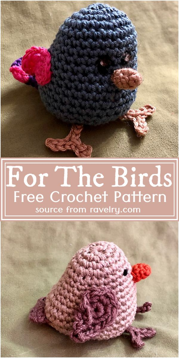 Free Crochet For The Birds Pattern