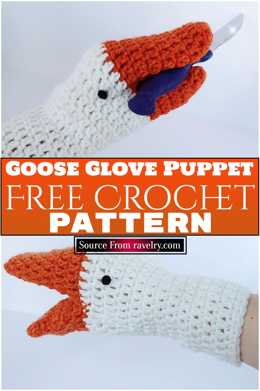 Free Crochet Goose Glove Puppet Pattern