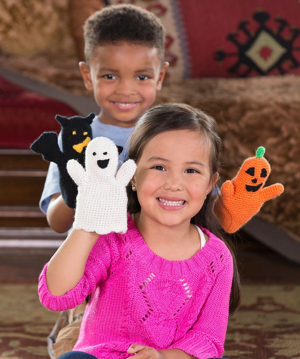 Free Crochet Halloween Puppets Pattern
