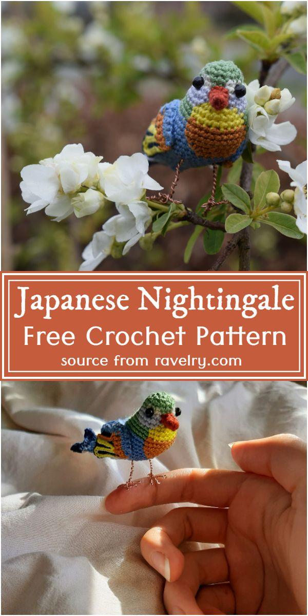 Free Crochet Japanese Nightingale Pattern