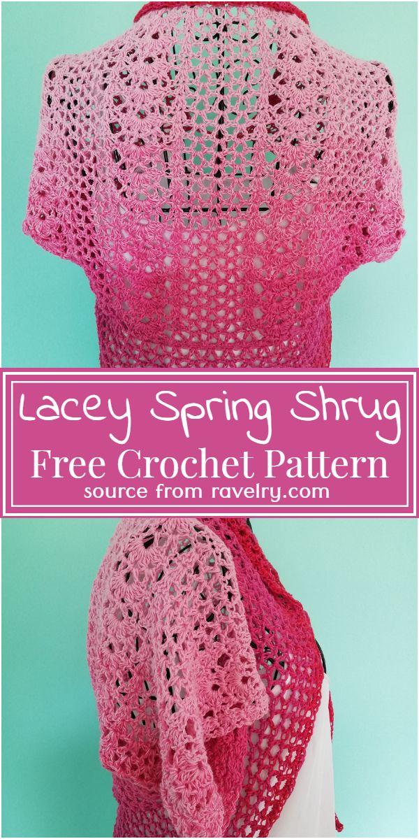 Free Crochet Lacey Spring Shrug Pattern