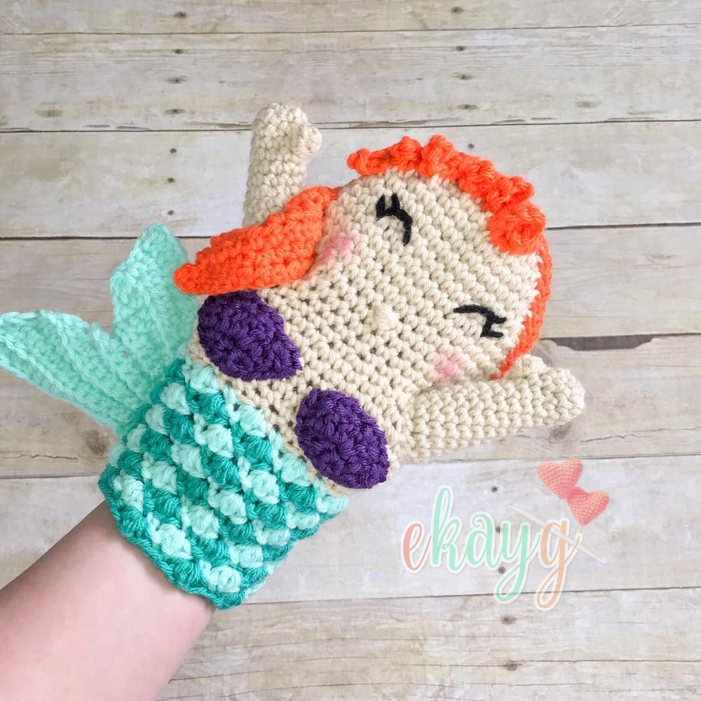 Free Crochet Mermaid Hand Puppet Pattern