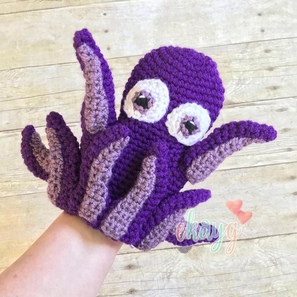 Free Crochet Octopus Hand Puppet Pattern