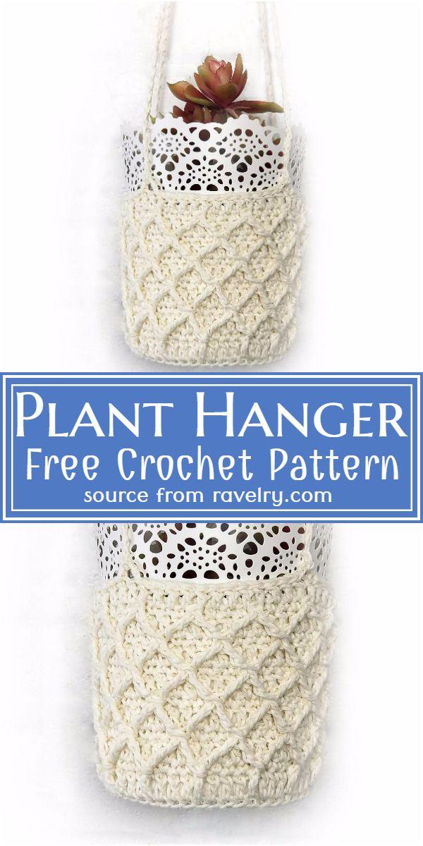 Free Crochet Plant Hanger Pattern