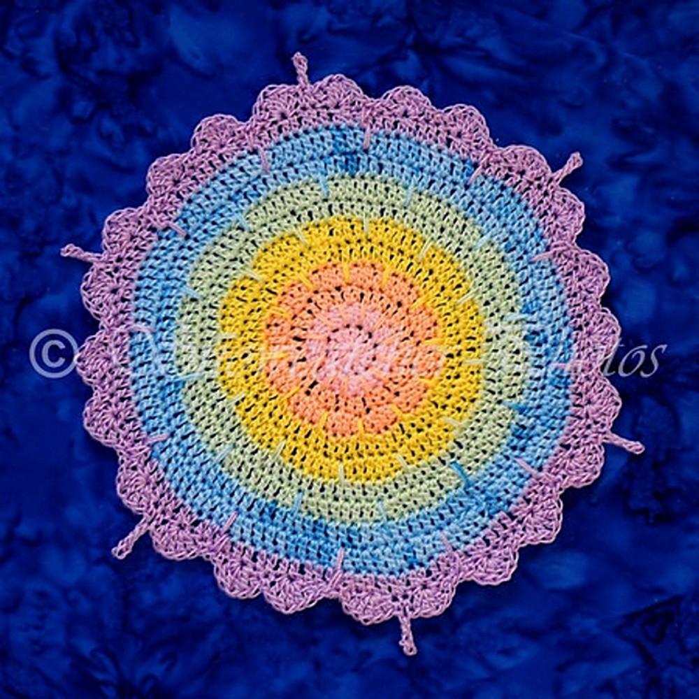 Free Crochet Rainbow Hug Mandala Pattern
