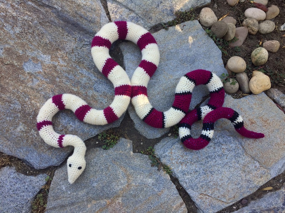 Free Crochet Red Tailed Boa Constrictor pattern