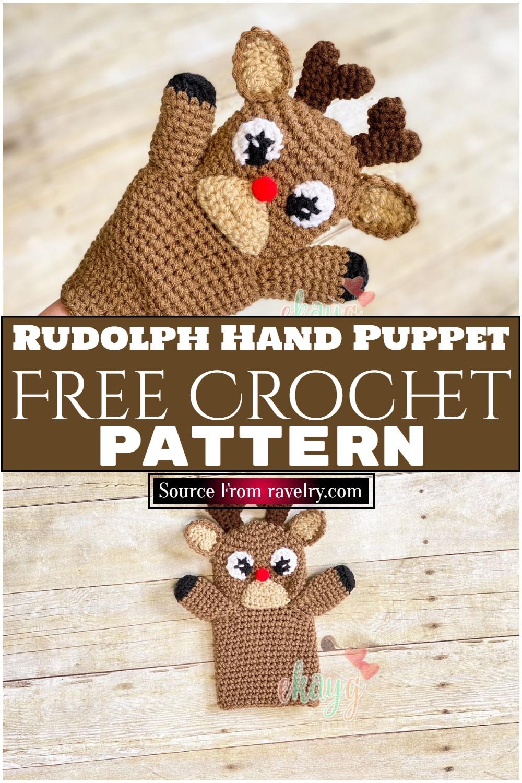 Free Crochet Rudolph Hand Puppet Pattern