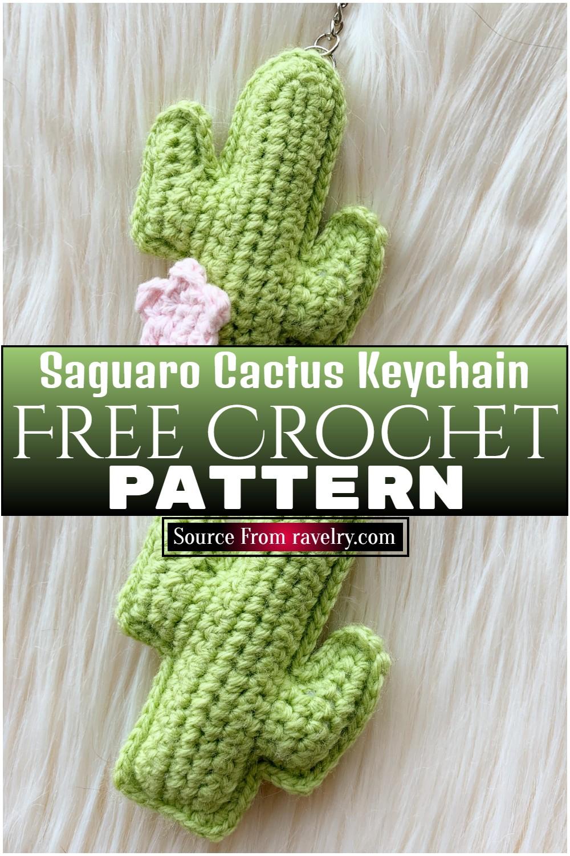Free Crochet Saguaro Cactus Keychain Pattern